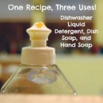 One Recipe, Three Uses: Dishwasher Liquid Detergent, Dish Soap, and Hand Soap
