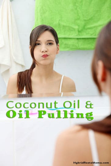 Oil Pulling - it's a natural way to aid the body in the detox process. Find out what it is, what it helps, how to do it, and how to use coconut oil for it from HybridRastaMama.com.