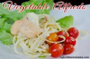 Vegetable Alfredo: HybridRastaMama.com