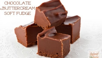 Salted Chocolate Buttercream Soft Fudge: HybridRastaMama.com