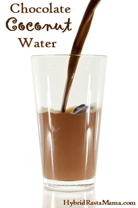 A simple and delicious recipe for chocolate coconut water. Makes a great dehydration aid as well. Why pay more at the store when it is easy to make at home? From HybridRastaMama.com