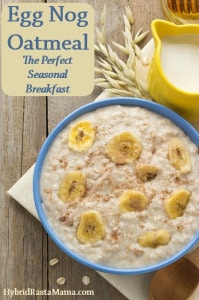 Egg Nog Oatmeal - The Perfect Seasonal Breakfast