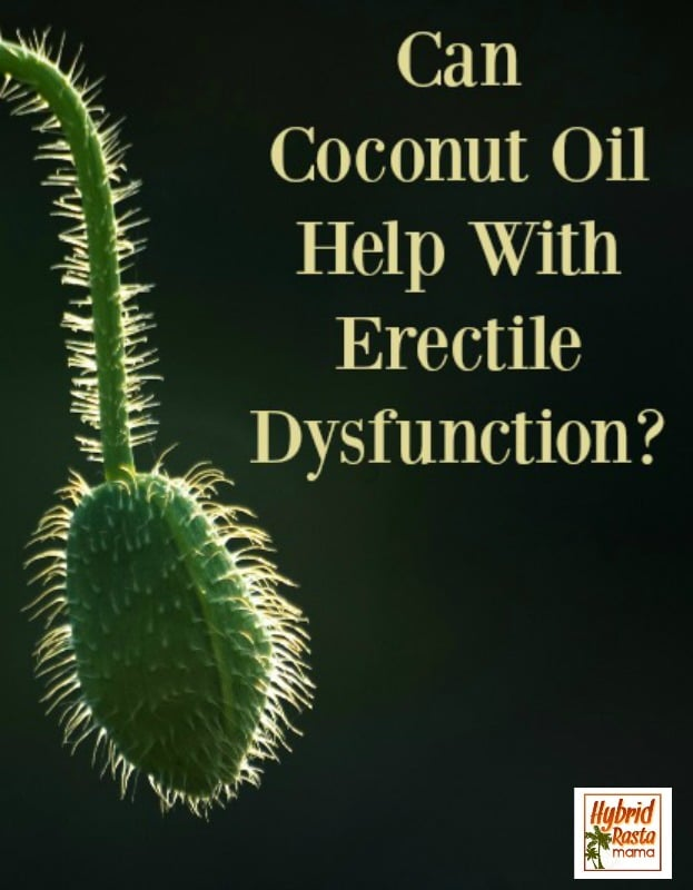 Erectile dysfunction is becoming more common these days but not everyone wants to treat it with drugs. Check out how coconut oil can help with erectile dysfunction in this post from HybridRastaMama.com.