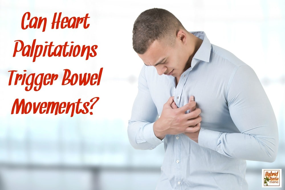 Man grabbing chest with heart palpitations
