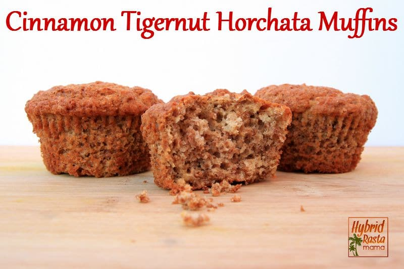 Cinnamon Tigernut Horchata Muffins from HybridRastaMama.com
