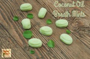 LLove fresh breath but not breath mints? Why not try these easy-to-make coconut oil breath mints from HybridRastaMama.com?