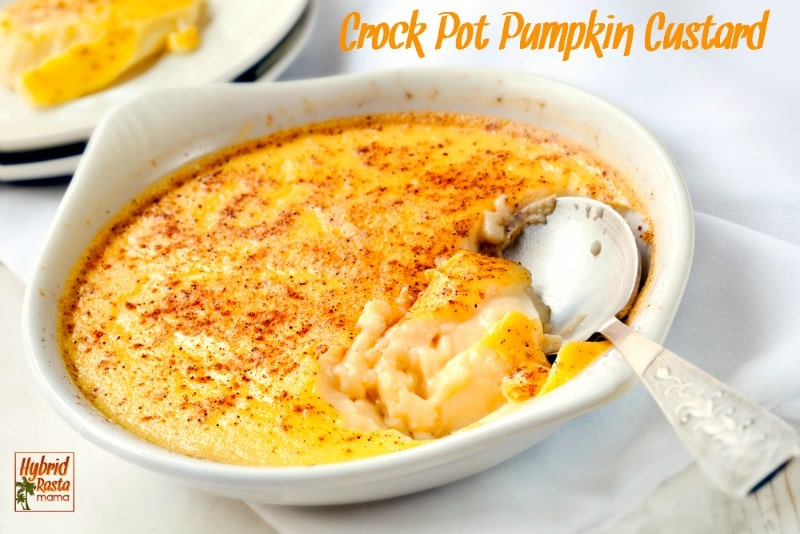 The flavors of fall...the textures and warmth that we love this time of year. Pumpkin custard is the nourishing treat you've been waiting for. Try it from HybridRastaMama.com.