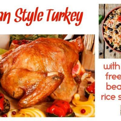 Cuban Style Turkey & Black Bean and Rice Stuffing (Gluten Free)