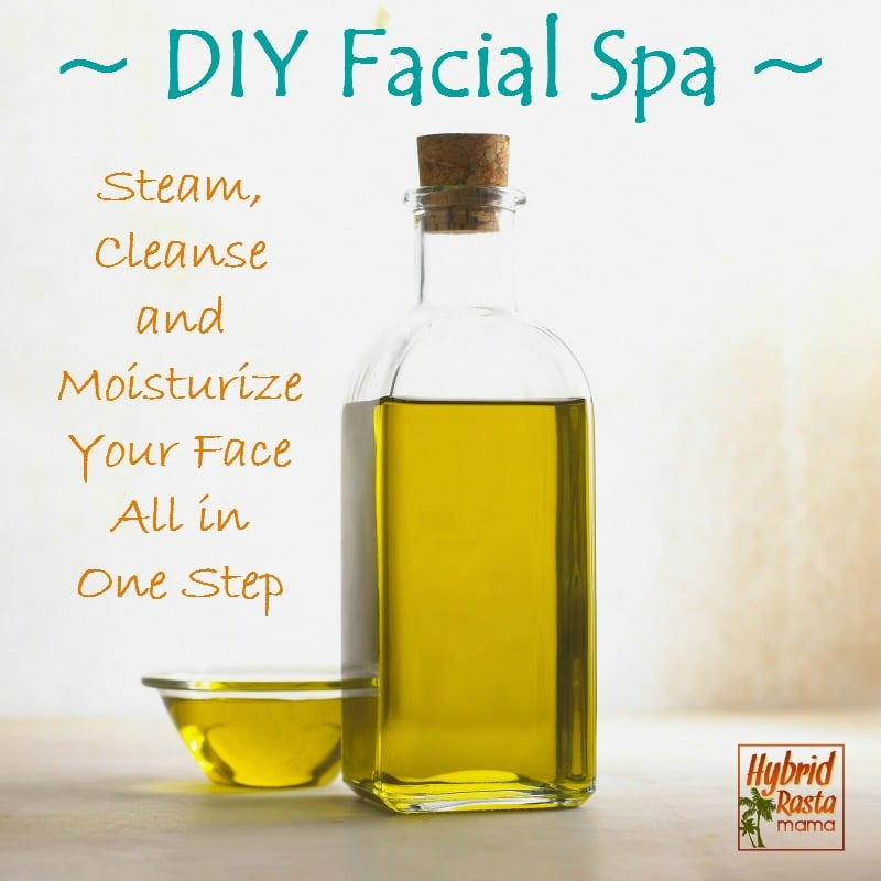 DIY Facial Spa! Steam, Cleanse  and  Moisturize  Your Face  All in  One Step from HybridRastaMama.com