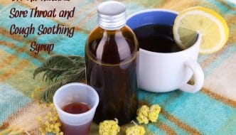 Looking for a sore throat and cough soothing syrup that doesn't have junky ingredients and is loved by all children? This all natural DIY recipe works well from HybridRastaMama.com.