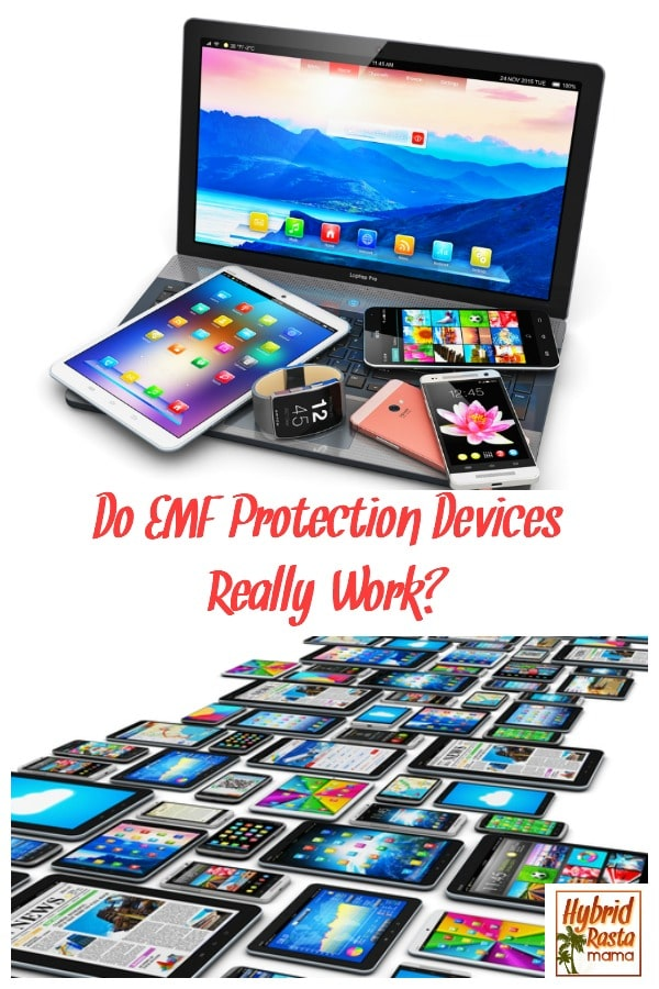 Electronic devices abound. Wi-fi is everywhere. EMFs. Radiation. The assault on our brain and body is daily and constant. So what can we do to protect ourselves? Do EMF protection devices really work? I put several products through their paces and share the results here! From HybridRastaMama.com #EMFs #EMFprotection #naturalhealth #healing #radiation #cellulardamage