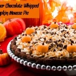 Double Layer Chocolate Whipped Pumpkin Mousse Pie