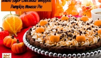 Double Layer Chocolate Whipped Pumpkin Mousse Pie from HybridRastaMama.com