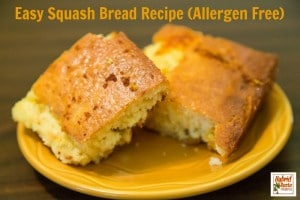 Easy Squash Bread Recipe (Allergen Free) from HybridRastaMama.com