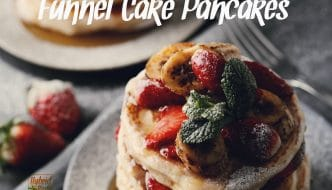 Funnel Cake Pancake Recipe from HybridRastaMama.com