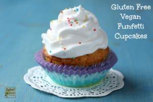 Funfetti Cupcake Recipe (Gluten Free, Vegan)