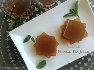 Homemade Herbal Tea Jello from HybridRastaMama.com