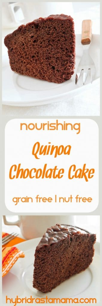 Who doesn't love a rich, chocolatey treat? As far as deserts go, this gluten free quinoa chocolate cake is one of the healthiest ones I make. Delicious & nutritious from HybridRastaMama.com.