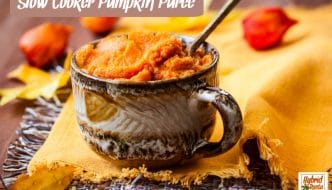 There are a million recipes for pumpkin puree but I assure you, my easy peasy slow cooker pumpkin puree really takes the cake! It is so rich in flavor! From HybridRastaMama.com