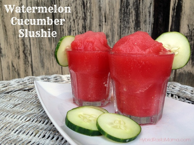Watermelon Cucumber Slushies